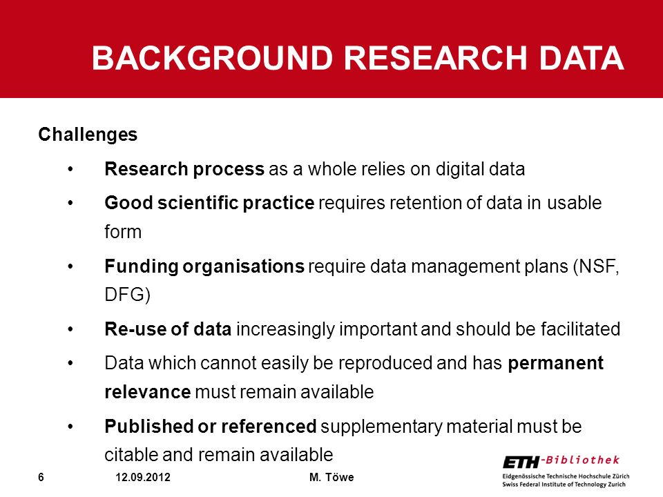 Background Research Data