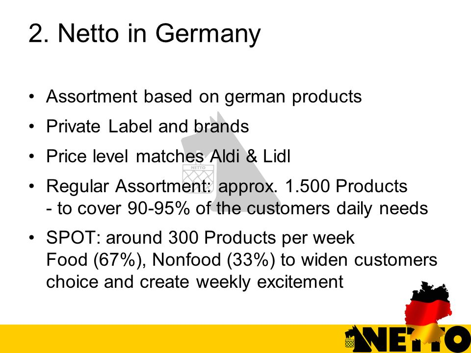 2. Netto in Germany Assortment based on german products