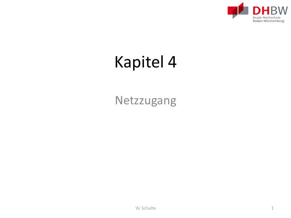 Kapitel 4 Netzzugang Kapitel 4 Network Access Seite 85 W. Schulte