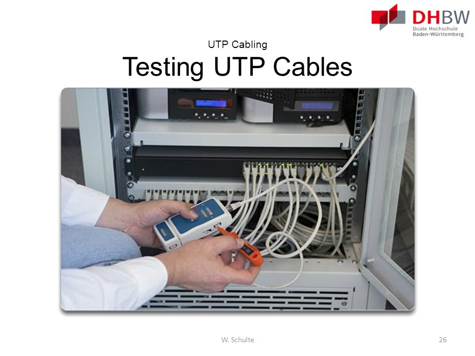 UTP Cabling Testing UTP Cables
