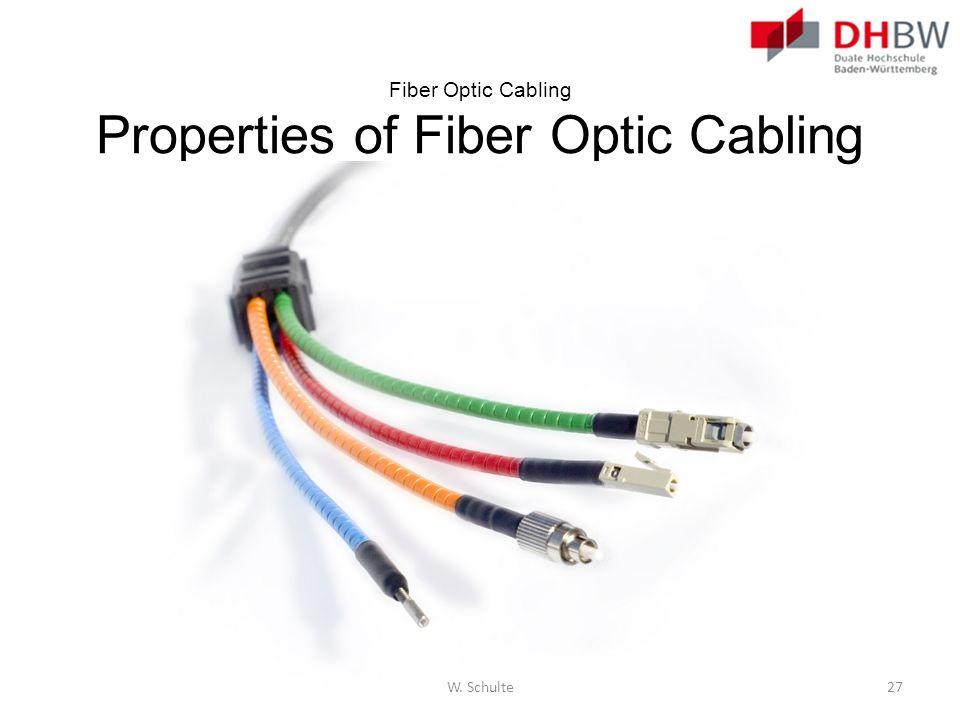 Fiber Optic Cabling Properties of Fiber Optic Cabling