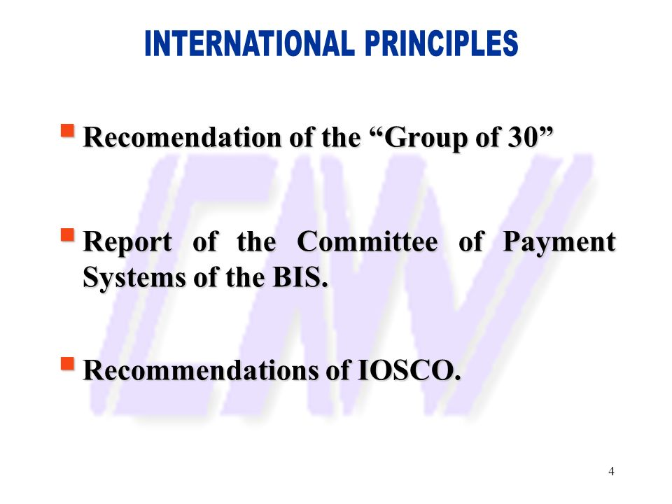 INTERNATIONAL PRINCIPLES