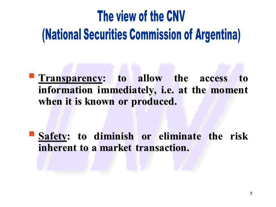 (National Securities Commission of Argentina)