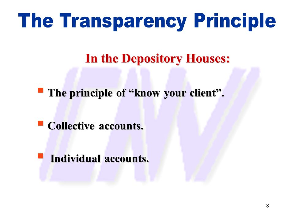 In the Depository Houses:
