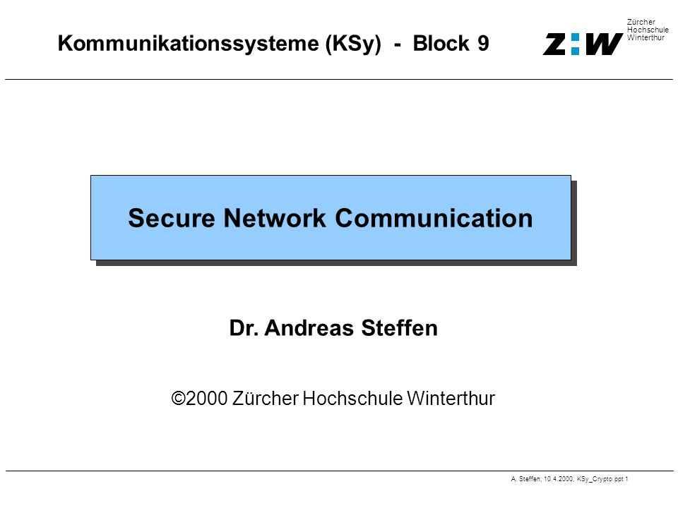 Kommunikationssysteme (KSy) - Block 9