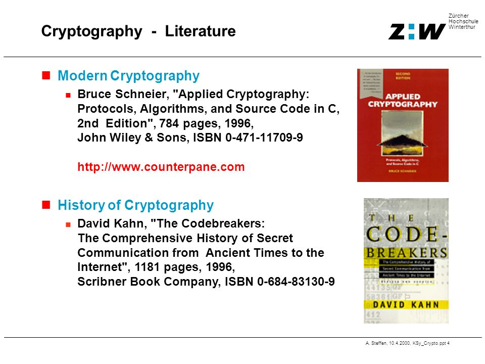 Cryptography - Literature