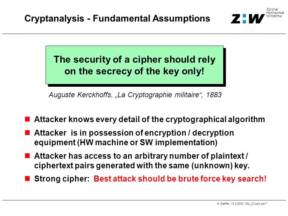 Cryptanalysis - Fundamental Assumptions
