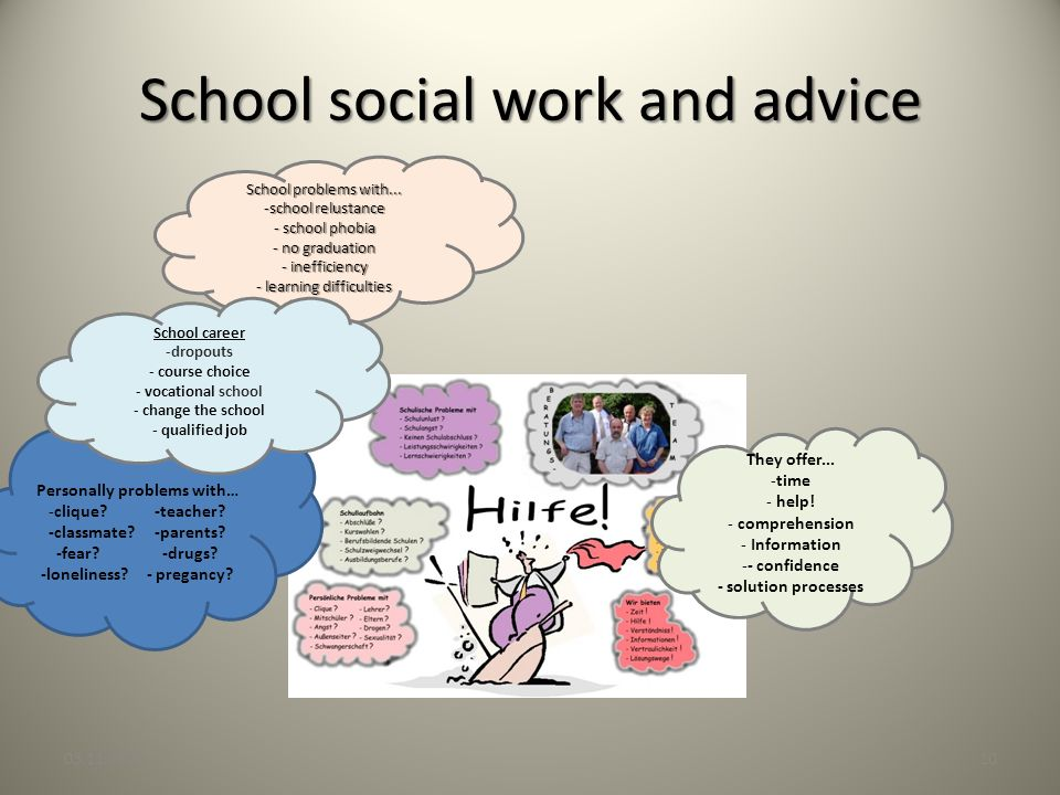 School social work and advice