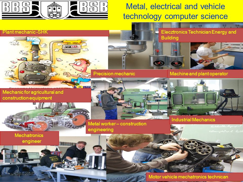 Metal, electrical and vehicle technology computer science