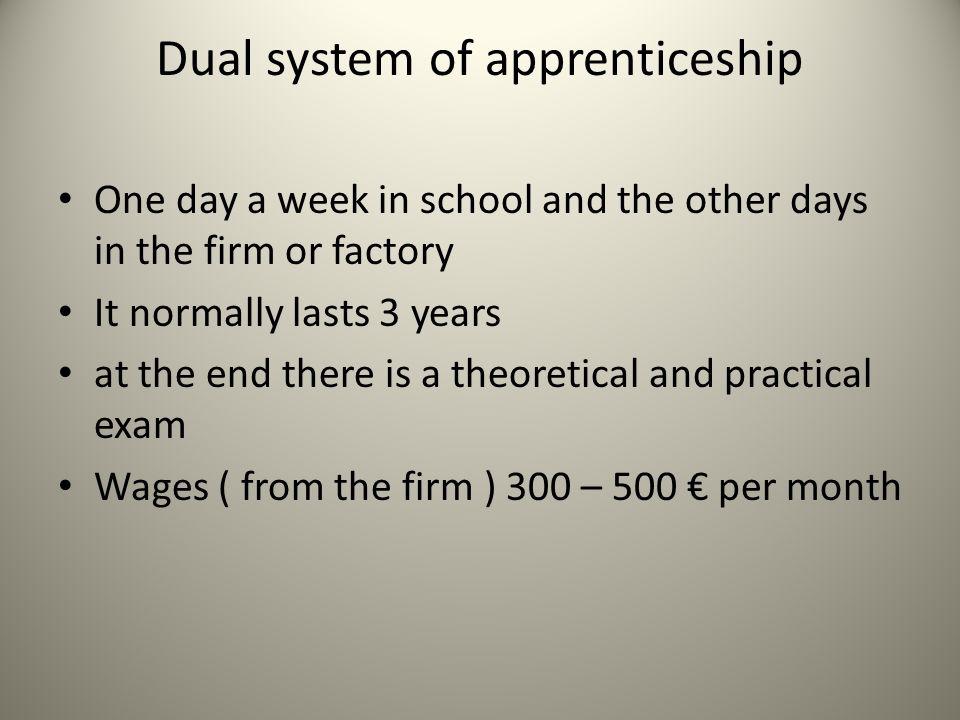 Dual system of apprenticeship