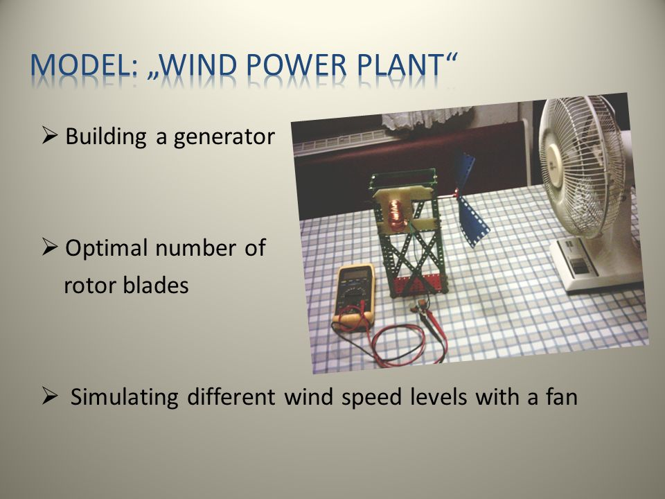 "Model: ""wind power plant"