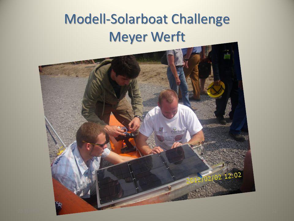 Modell-Solarboat Challenge Meyer Werft