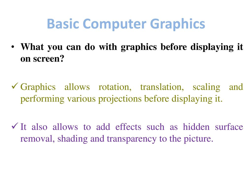 Basic Computer Graphics