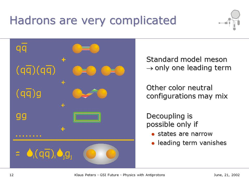 Hadrons are very complicated