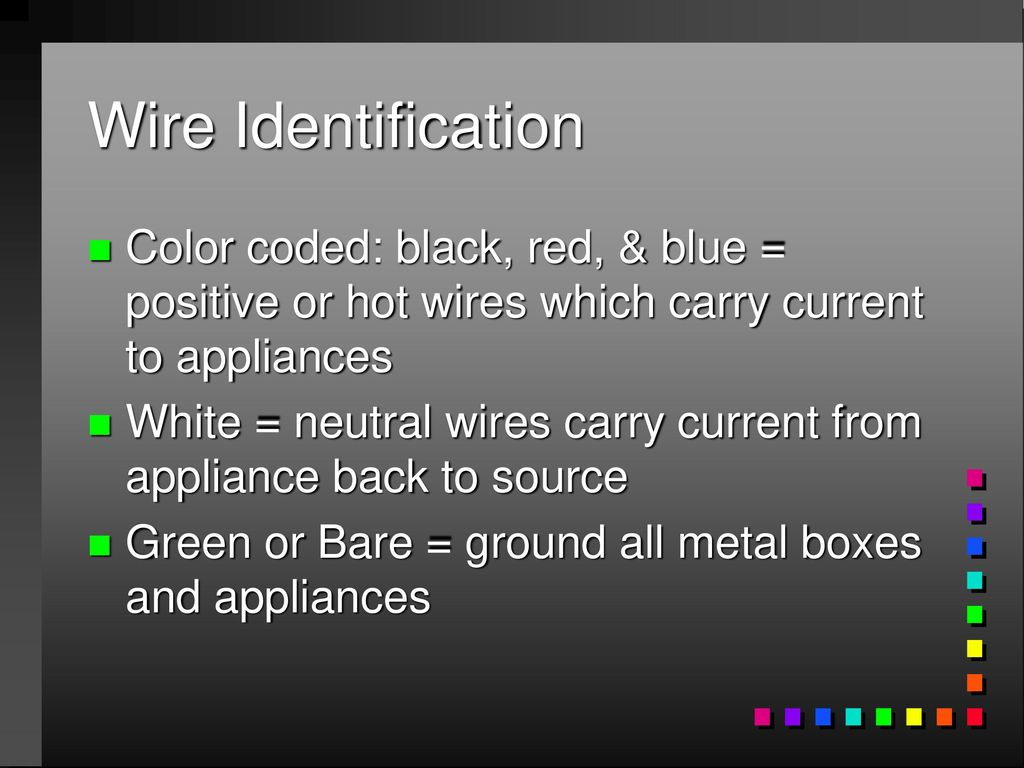 Famous What Color Is Hot Wire Embellishment - The Best Electrical ...