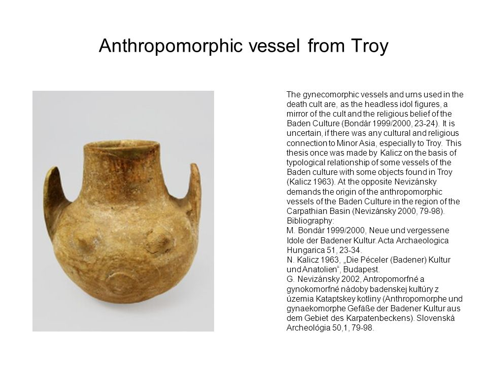 Anthropomorphic vessel from Troy
