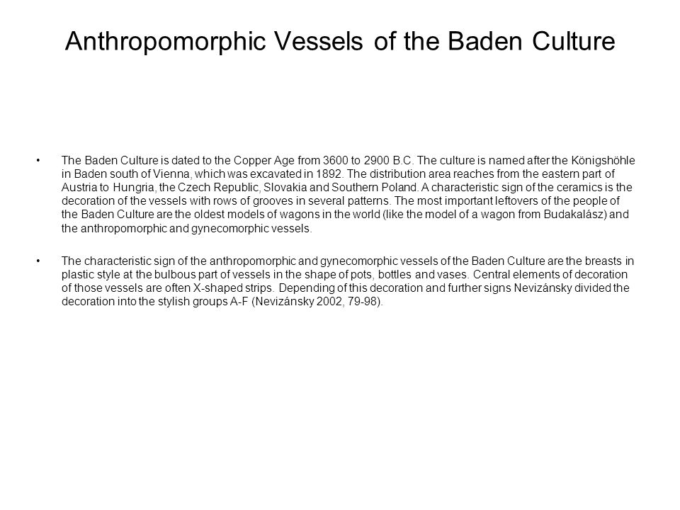 Anthropomorphic Vessels of the Baden Culture