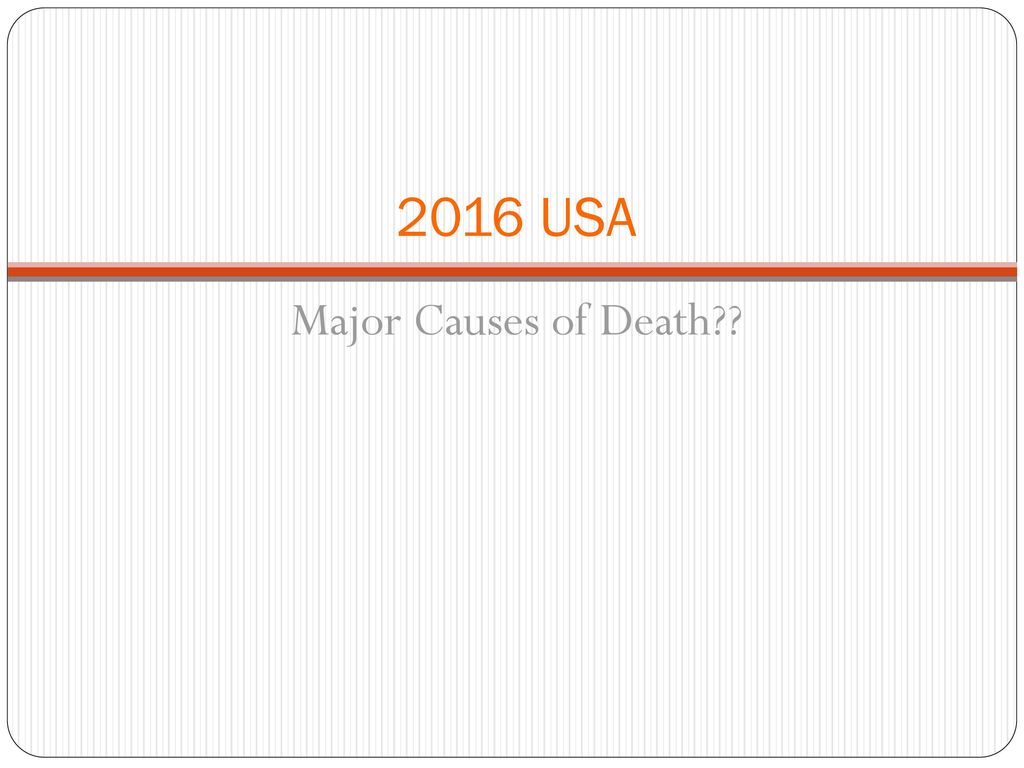 causes of death usa