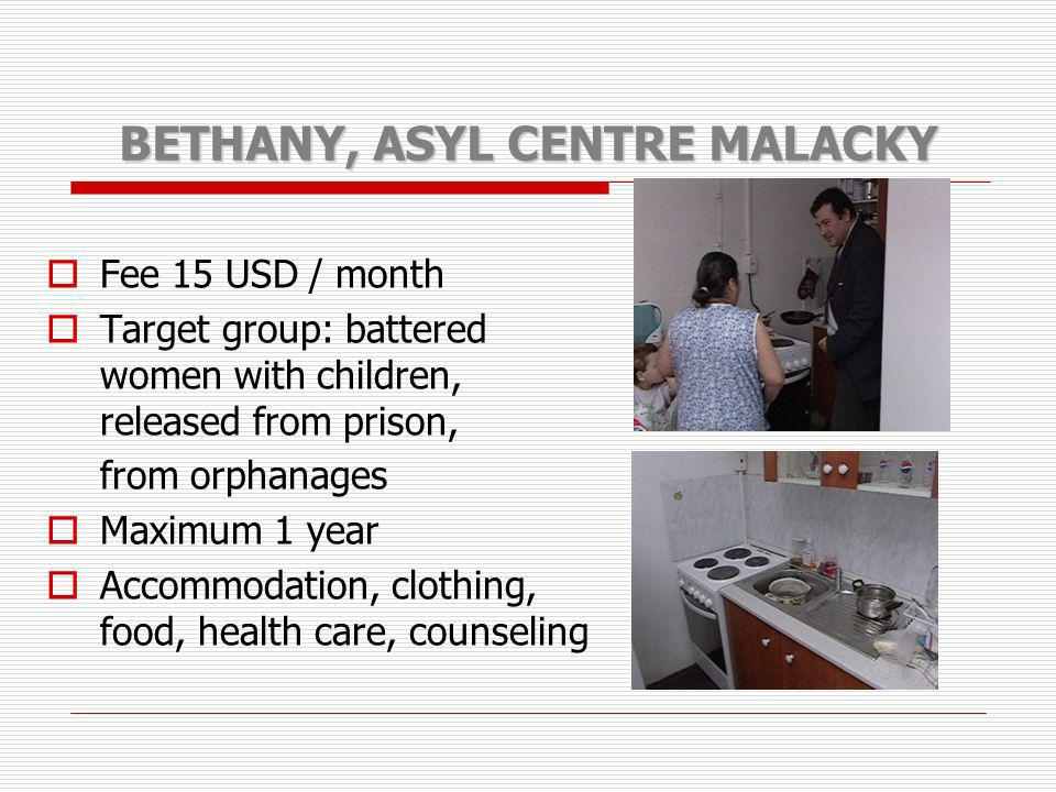 BETHANY, ASYL CENTRE MALACKY