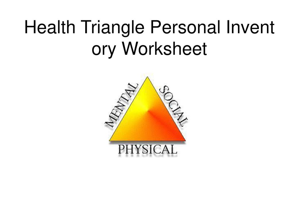 worksheet Health Triangle Worksheet planning for a healthy lifetime ppt download 16 health triangle personal inventory worksheet
