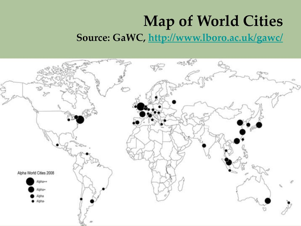 Linked cities mediatization and spatial production ppt download 27 map of world cities source gawc httplborogawc gumiabroncs Images