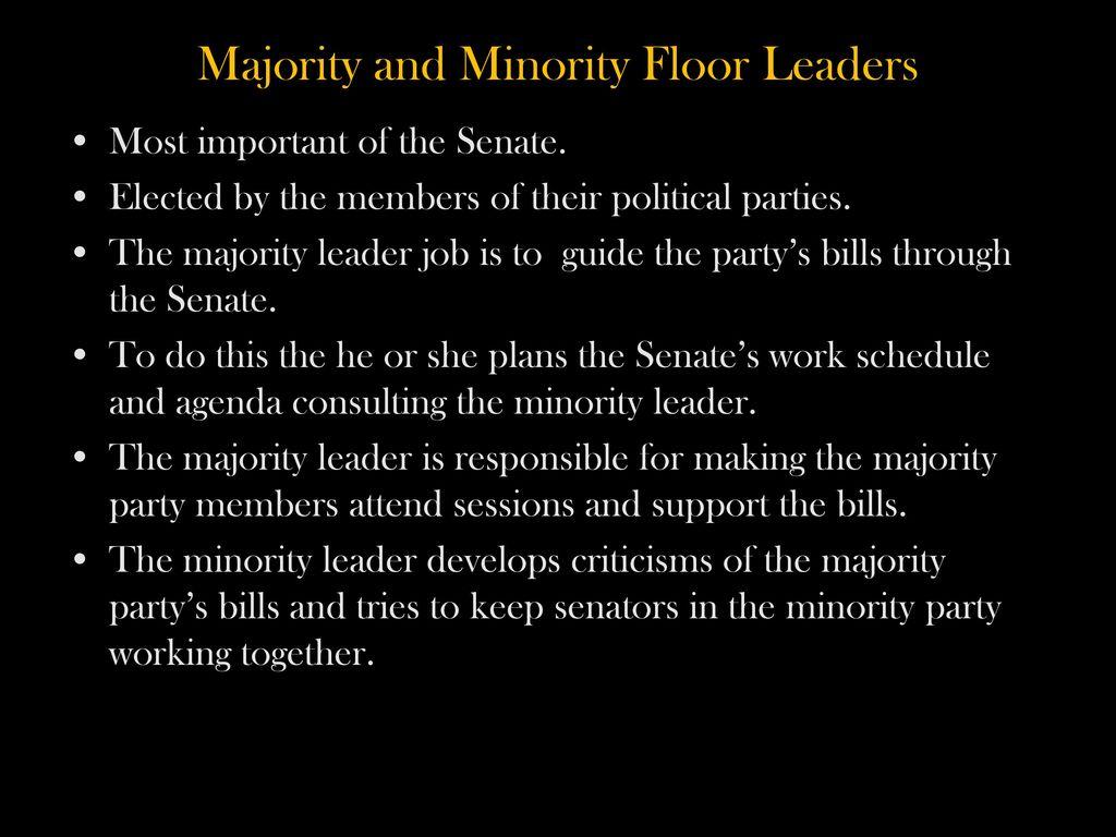 Majority And Minority Floor Leaders