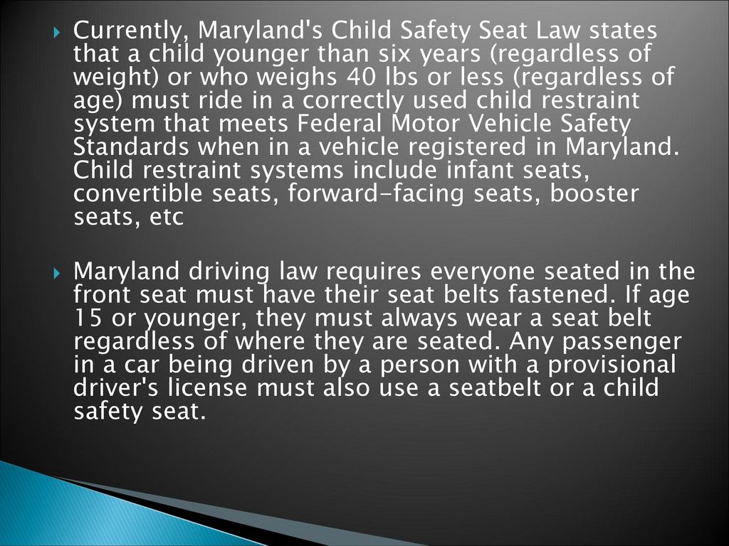 Objective Defend The Practice Of Car Seat Safety Beginning At Birth