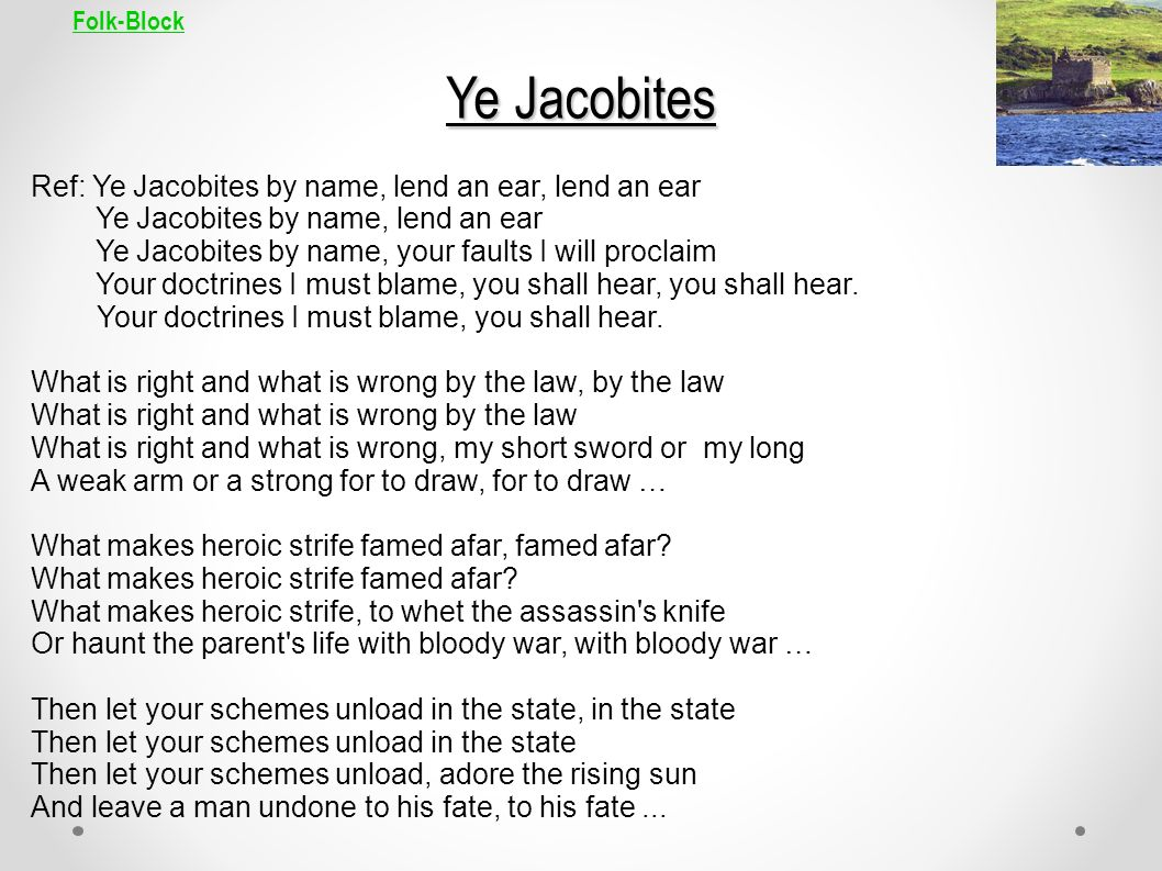 Folk-Block Ye Jacobites.