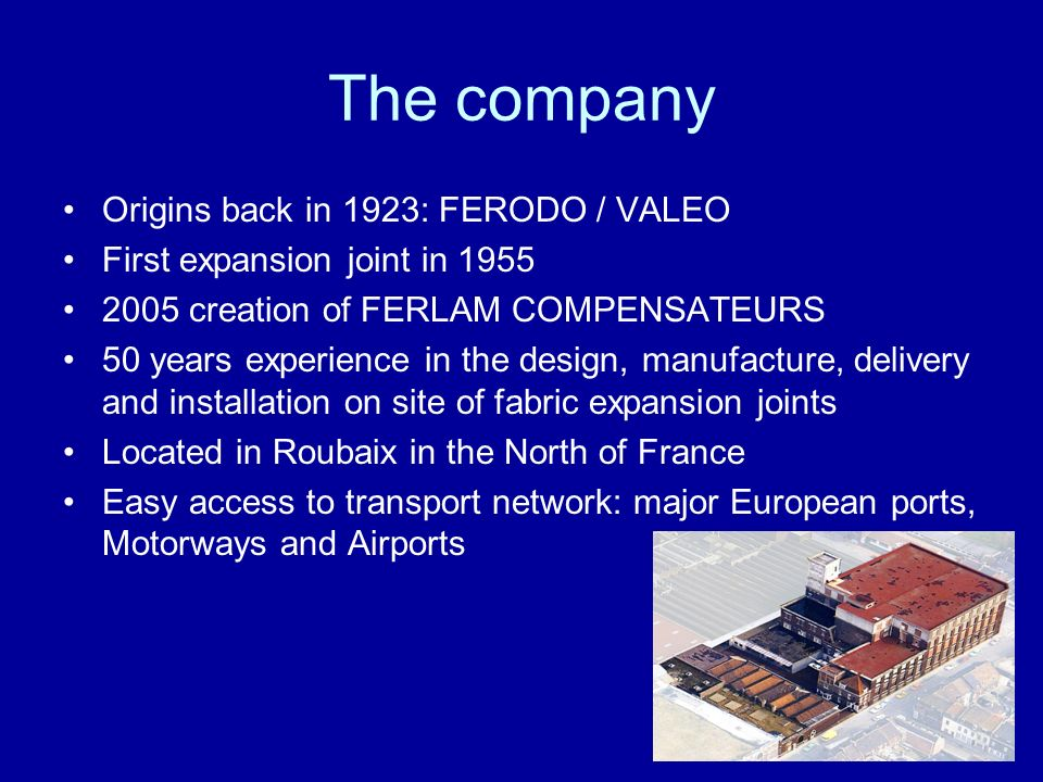 The company Origins back in 1923: FERODO / VALEO