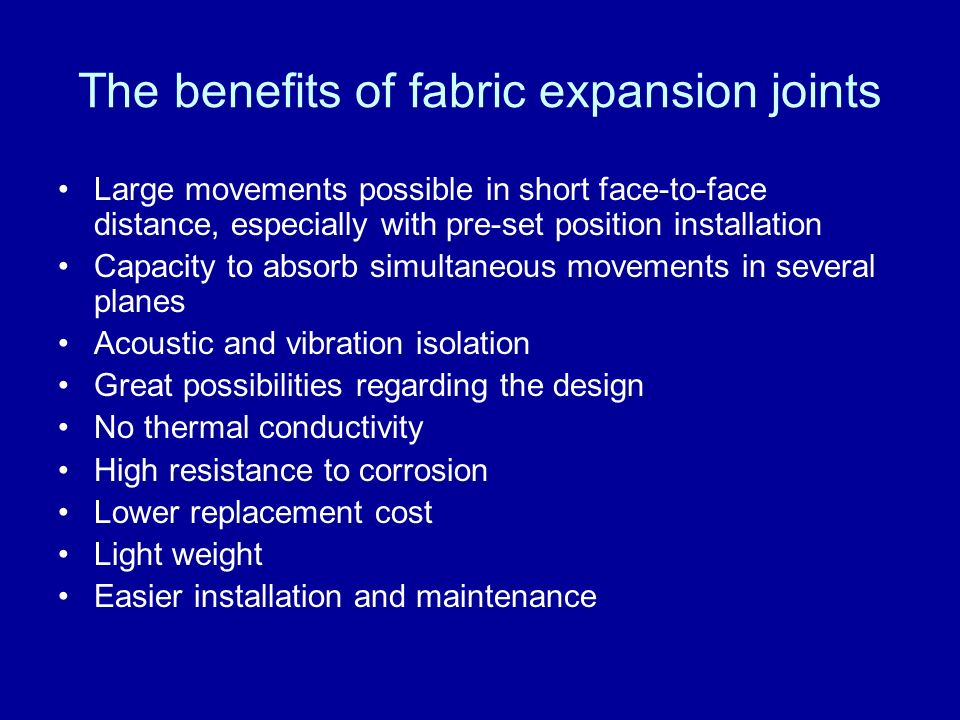 The benefits of fabric expansion joints