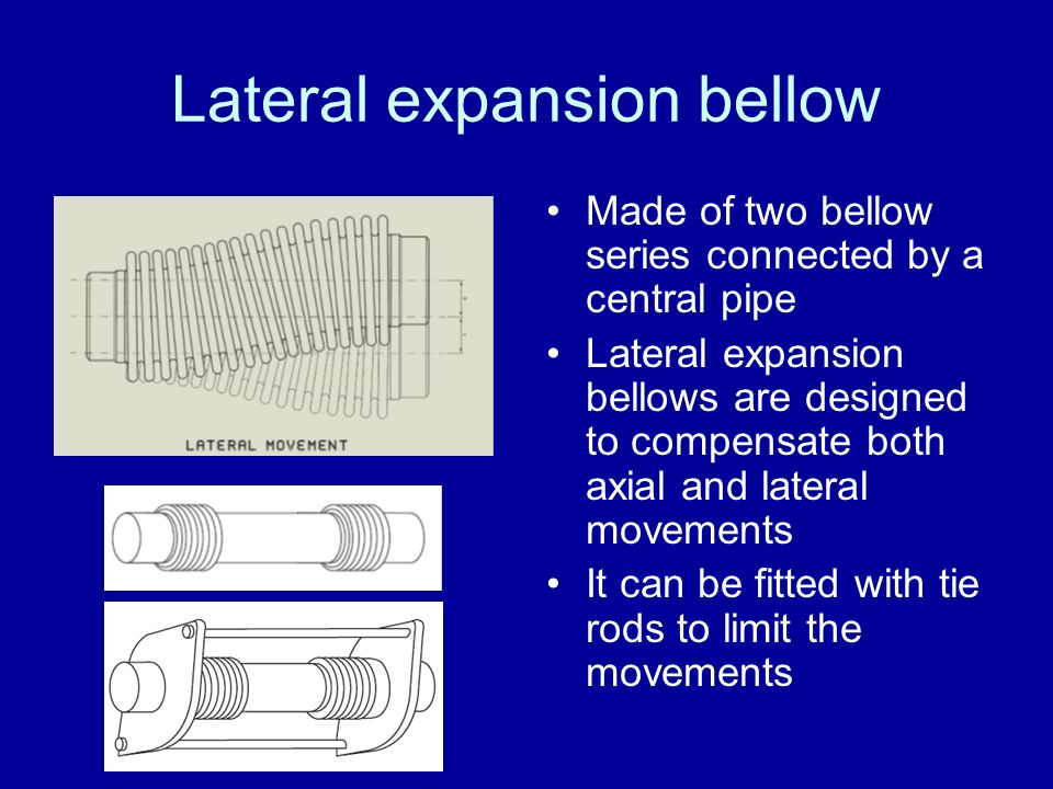 Lateral expansion bellow