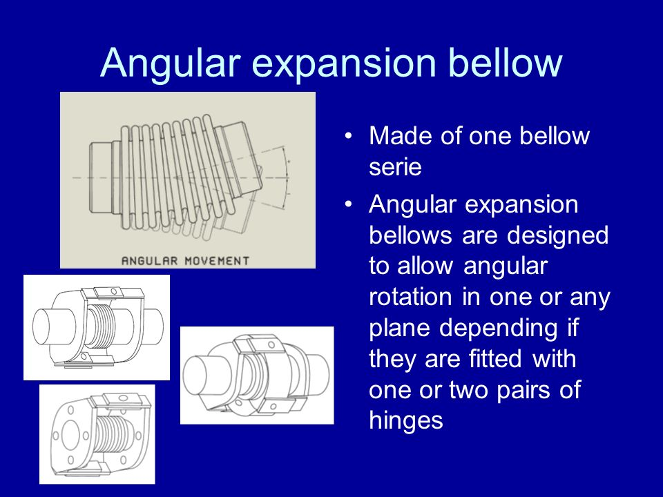 Angular expansion bellow