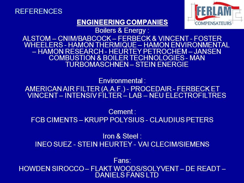 ENGINEERING COMPANIES Boilers & Energy :