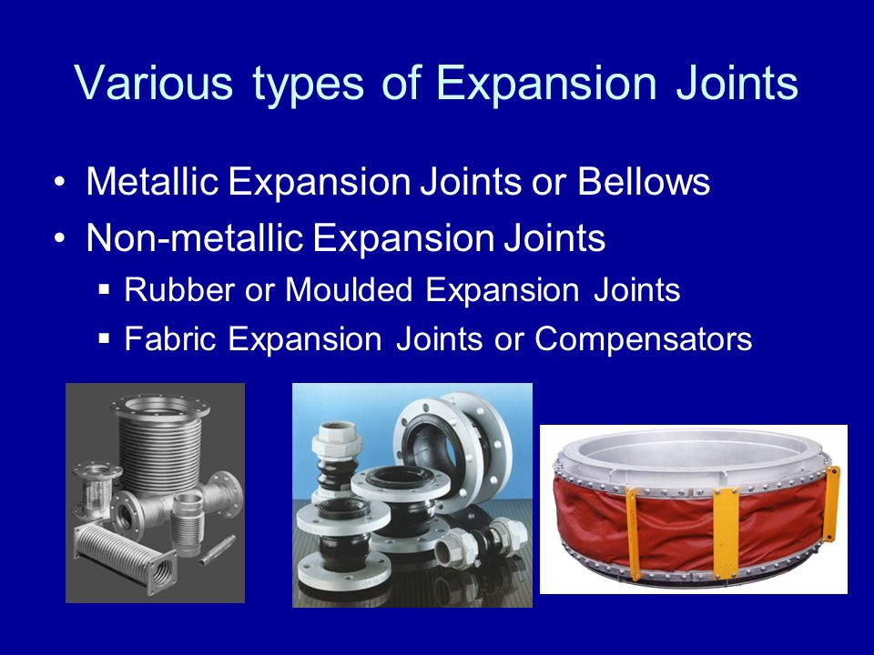 Various types of Expansion Joints