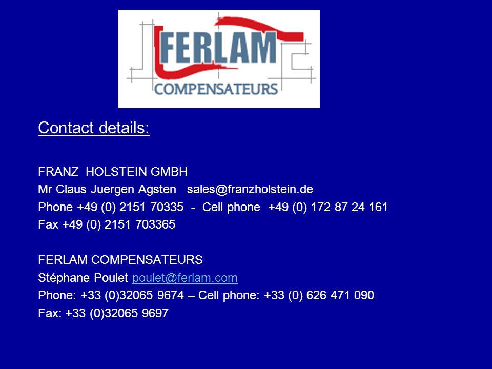 Contact details: FRANZ HOLSTEIN GMBH