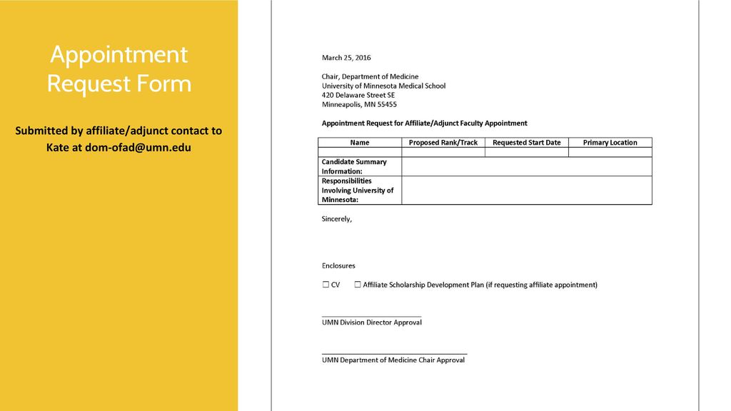 Affiliate And Adjunct Appointment Process  Ppt Download