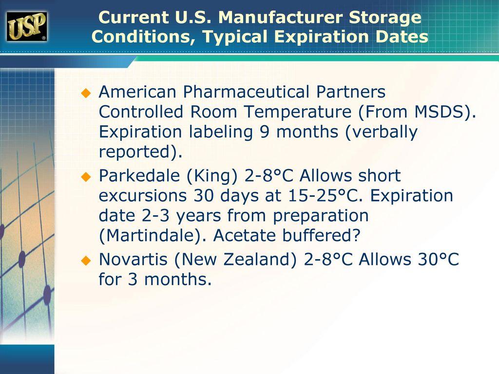 usp storage conditions