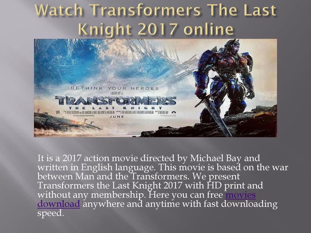 transformers movie download
