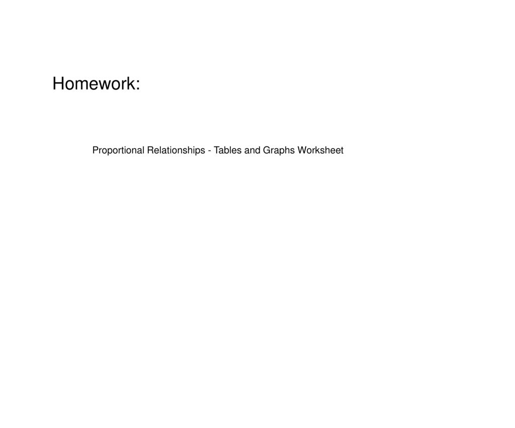 Proportional Relationships And Graphs Ppt Download