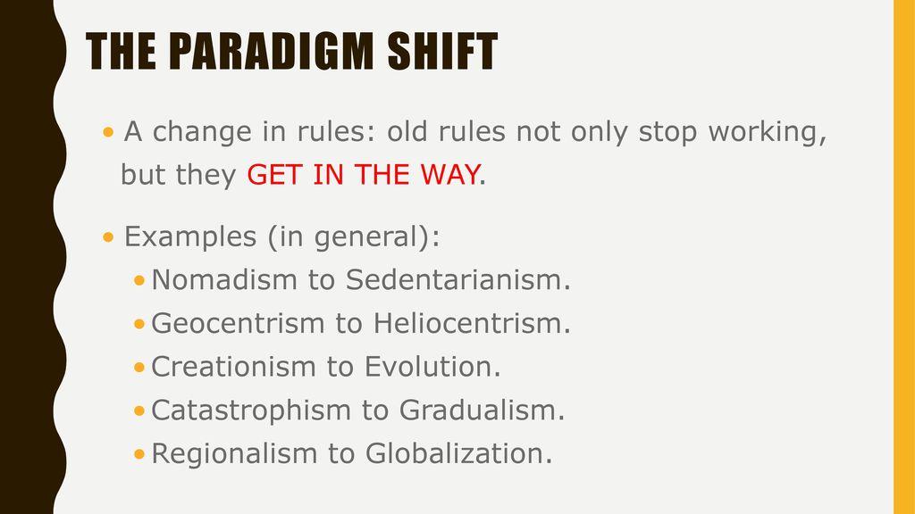 Paradigms And Paradigm Shifts Ppt Download