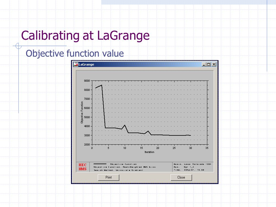 Calibrating at LaGrange
