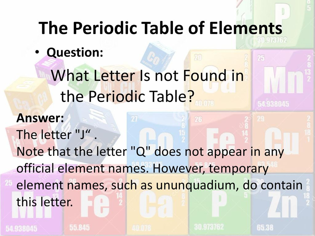 Atom to molecule simple to complex ppt download the periodic table of elements urtaz Image collections