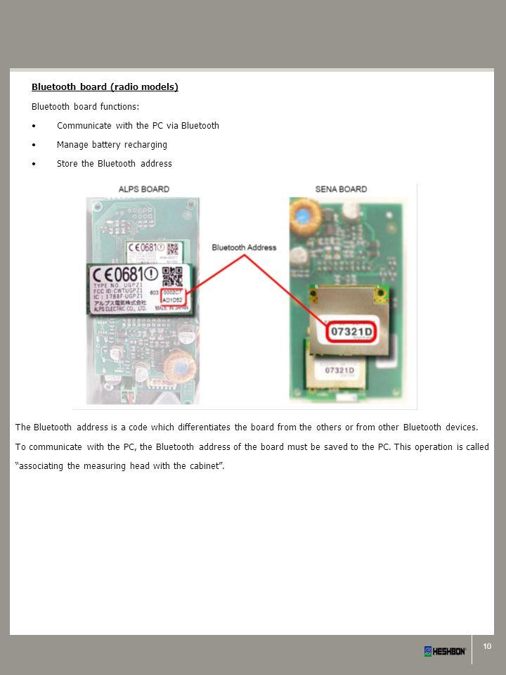 Bluetooth board (radio models)