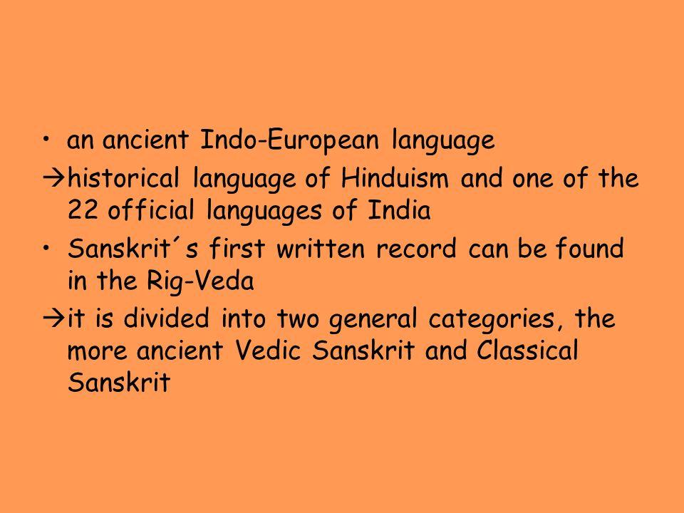 an ancient Indo-European language
