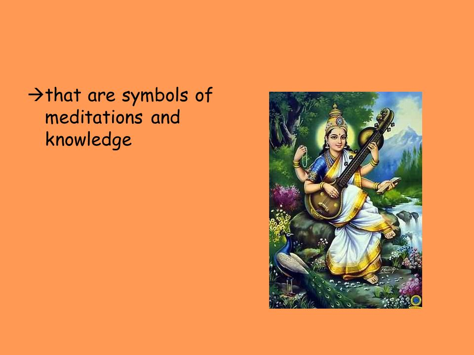that are symbols of meditations and knowledge