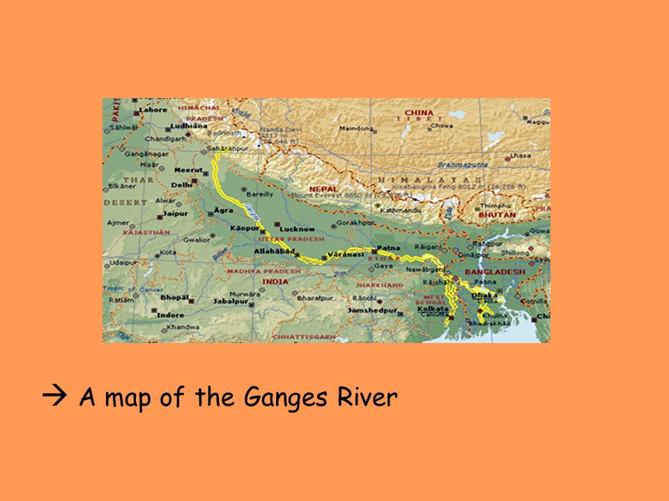  A map of the Ganges River