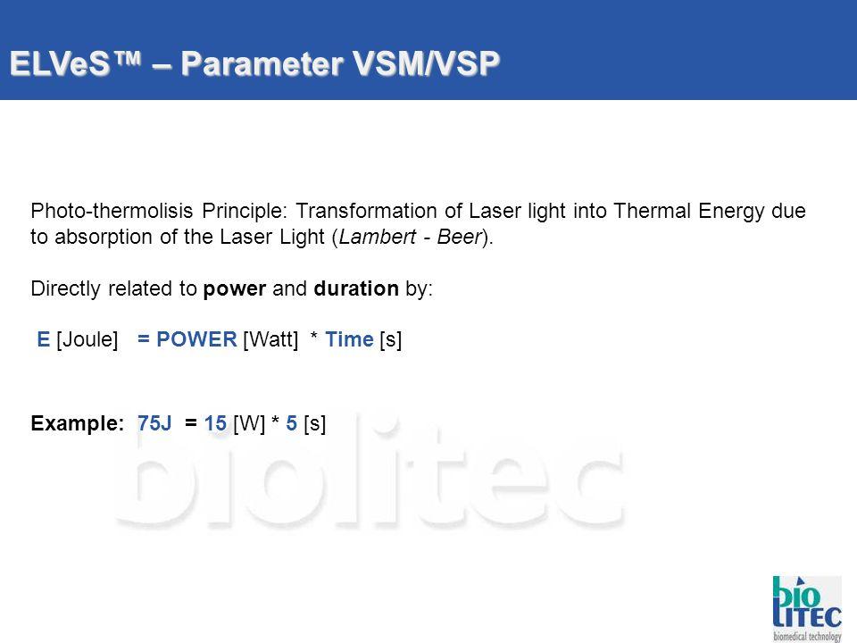 ELVeS™ – Parameter VSM/VSP
