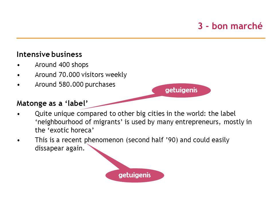3 - bon marché Intensive business Matonge as a 'label' getuigenis