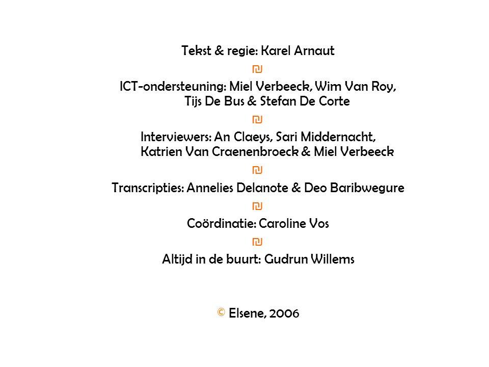 Tekst & regie: Karel Arnaut ₪