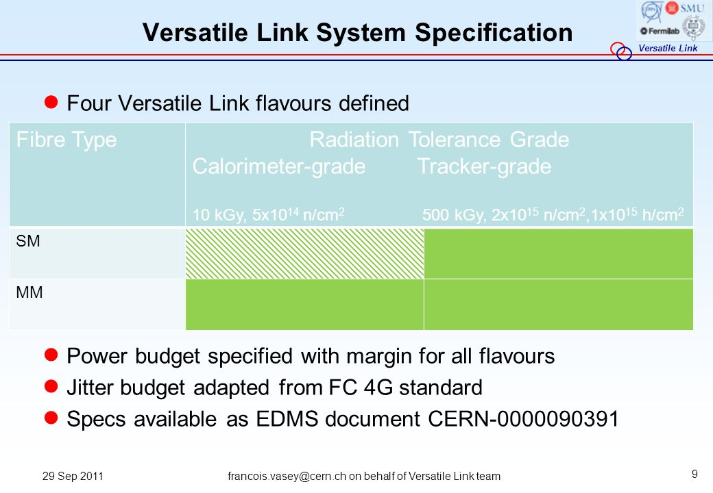 Versatile Link System Specification